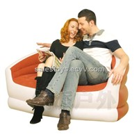 Double inflatable sofa