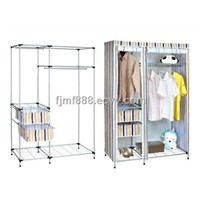 Durable Fabric Wardrobe with Two Drawers