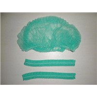 Green Disposable Bouffant Cap-DNC104