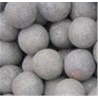 Grinding resistant forged iron ball