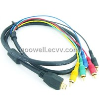 HDMI to 5 RCA AV Cable (HDMI Cable)