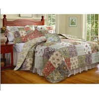 Handmade Quilt Set, Made of 100% Cotton, with Embroidery/Printing and Solid Color Design