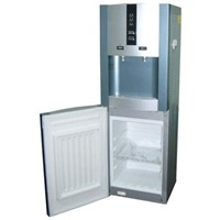 Hot and cold compressor cooling water dispenser with 16L Refrigerator