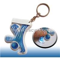 Custom Full Color Printed LED Keychain