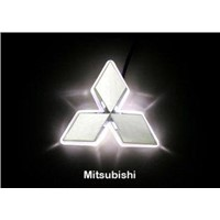 Mitsubishi Emblems/White LED Car Rear Logo Light for Mitsubishi