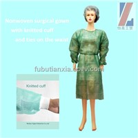 Nonwoven surgical isolation gown