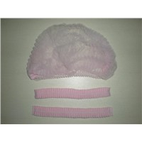 Pink Disposable Bouffant Cap-DNC100