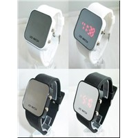 Promotional Gift LED Silicone Wrist Watch - Mirror Bracelet