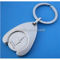 Custom Trolley Coin Holder Keyring