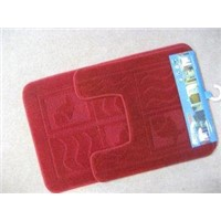 Washable and Durable Scarlet Microfiber Bath Mat Obm-003