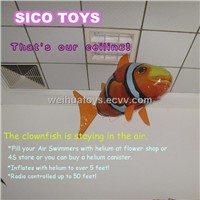 Wholesale - Free shipment 59' rc air swimmers rc flying clownfish rc flying shark
