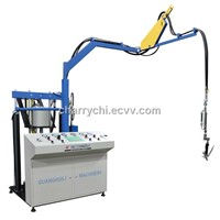 insulating glass bicomponent sealant spreading machine