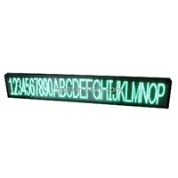 p7.62 semi-outdoor green one line message new products led screen
