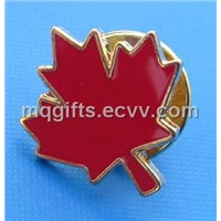 Red Maple Leaf Badge /Lapel Pin
