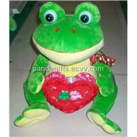 plush frog with heart  Valentine Plush Toy frog
