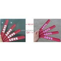 silicone slap bracelet change color in UV