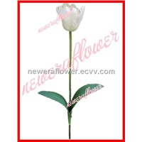 silk flower for artificial  tulip flower