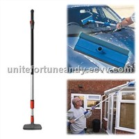 telescopic wash brush and squeegee