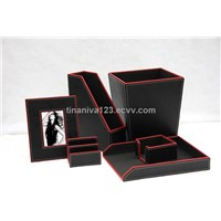 Faux Leather Storage Box
