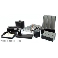 Faux leather stationery set