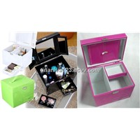 Leather cosmetic boxes