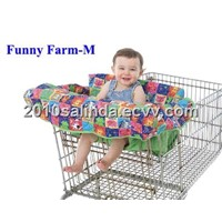 Baby Shopping Cart Cover/Grocery/Trolley Cart Cover/Seat Covers/Pad/Cushion--Funny Farm