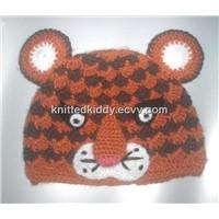 KK077 Handmade tiger  kid hat