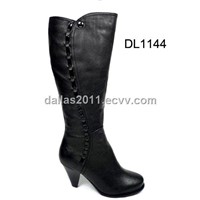 2012 hot selling women high heel leather boot DL1144
