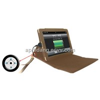6600mAh Portable Power Leather Case for iPad