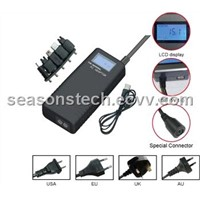 70W Universal Laptop AC Adapter  With LCD Screen