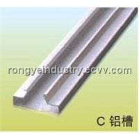 Aluminum insert for slatwall