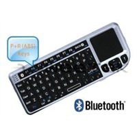 Bluetooth Mini Wireless Keyboard with Mouse Function Touchpad and Laser Pointer (ZW-51006BT-Silver)
