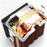 CPU Cooler with HDT Technology Applied in Bottom, Heat Pipes Measures 6 x 2mm, All-platform Sockets