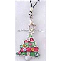 Christmas tree cell phone strap