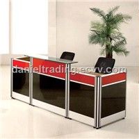Hot sale , modern melamine wooden reception desk , consult counter