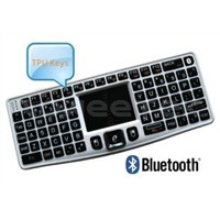 Mini Bluetooth 3.0 Wireless Keyboard with Receiver and DPI Adjustable Touchpad (ZW-51007BT-Silver)