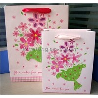 New Arrival Holiday Gift Music Paper Bag with Flower Design