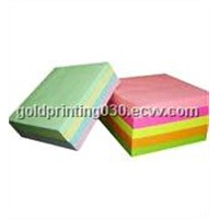 Note pad with color printing