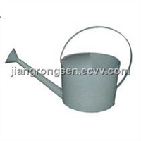 Oval tin water can