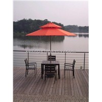 P001:double-tier round wooden umbrella