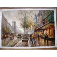 Paris Street Oil Painting on Canvas 100% Hand-painted PS008