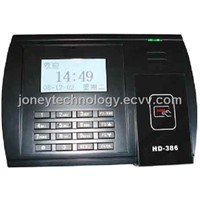 Proximity card time and attendance terminal