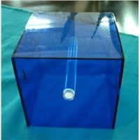 Square Blue Acrylic Napkin Holder Acrylic Tissue Box