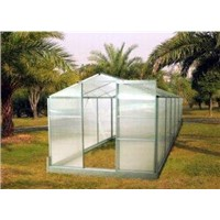 Sturdy Aluminum Framing Small Size 4mm UV Twin-Wall Polycarbonate Portable Greenhouses Gardening 6'
