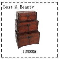 antique wooden storage boxes (11MD005)