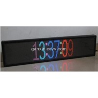 full color p7.62 time temperature message semi-outdoor led display