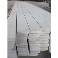 white primed wood trim boards