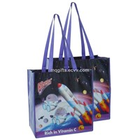 Laminated pp woven bag for promotion