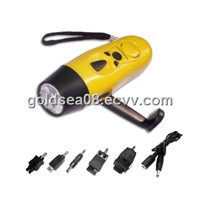 multifunctional hand crank dynamo led torch/flashlight