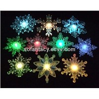 LED snowflake with sunction
